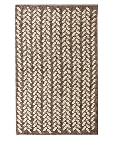 nuLOOM Cable Knit Rug, Grey, 5′ x 8′