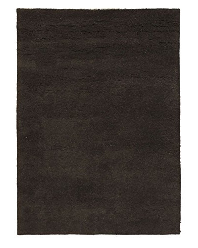 Oak Rugs Hand-Knotted Casablanca Beni Wool Rug, Light Black, 4' 5 x 6' 5