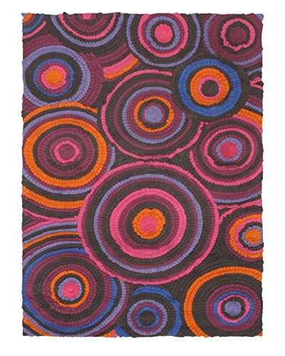 Oak Rugs Hand-Made Eternity Bold Wool Rug, Pink, 5' 8 x 7' 9