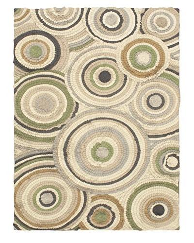 Oak Rugs Hand-Made Eternity Bold Wool Rug, Cream, 5' 7 x 7' 9