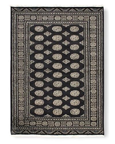 Oak Rugs Hand-Knotted Finest Peshawar Bokhara Wool Rug, Black, 5' 7 x 7' 8