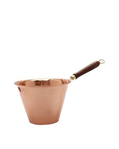 Old Dutch International Solid Copper 5-Qt. Polenta Pan with Wooden Handle