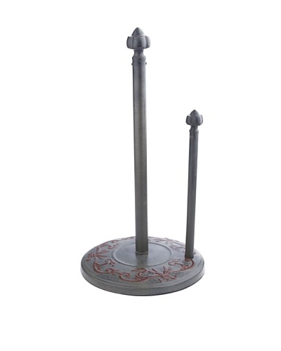 Old Dutch International Art Nouveau 15 Standing Towel Holder, Verdigris/Coppertone
