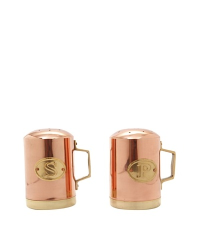 Old Dutch International Solid Copper Stovetop Salt & Pepper Set