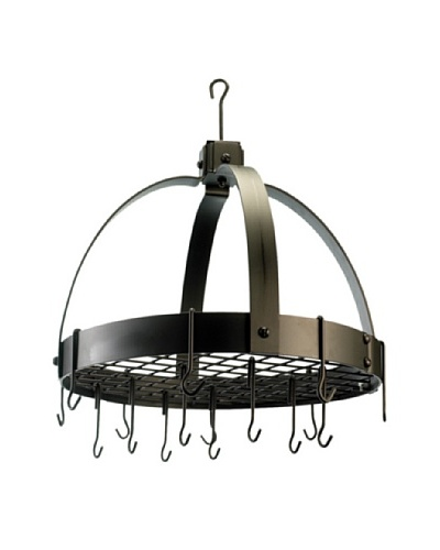 Old Dutch International 16-Hook Oiled Bronze Dome Pot Rack with Grid
