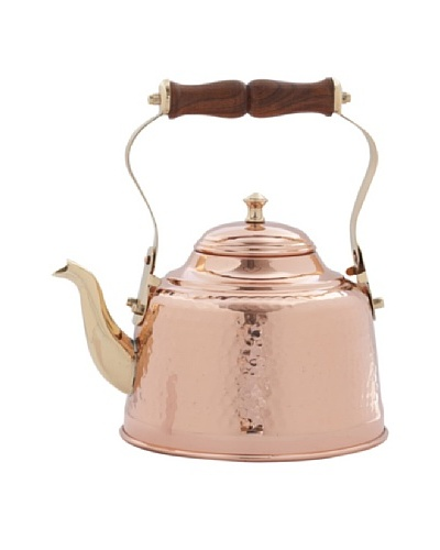 Old Dutch International 2-Qt. Hammered Solid Copper Tea Kettle with Wood Handle