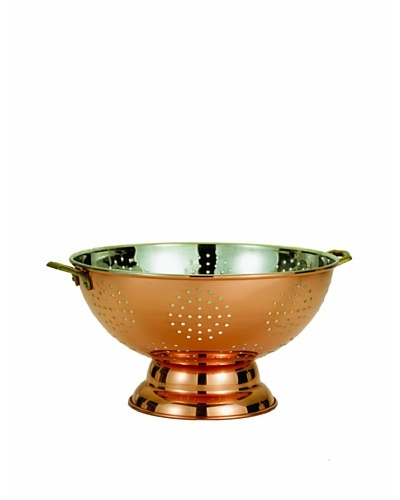 Old Dutch Décor Copper Footed Colander/Centerpiece
