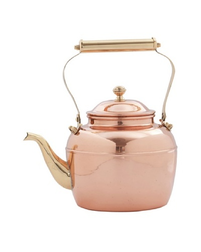 Old Dutch International 2.5-Qt. Solid Copper Tea Kettle with Brass Handle
