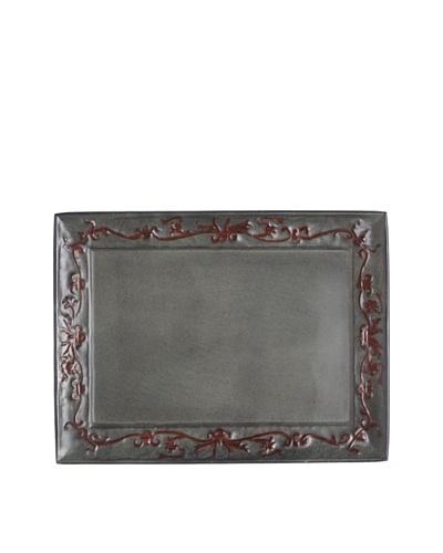 Old Dutch International Art Nouveau Rectangular Tray, Verdigris/Coppertone