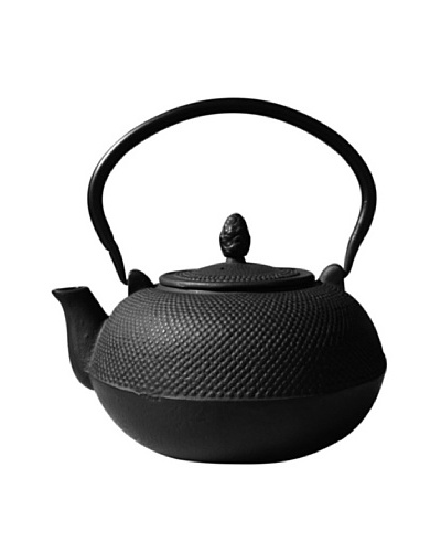 Old Dutch International Cast Iron 101-Oz. Hakone Teapot/Wood Stove Humidifier, Matte Black