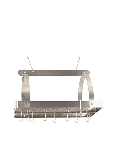 Old Dutch International 24-Hook Satin Nickel Pot Rack with Grid