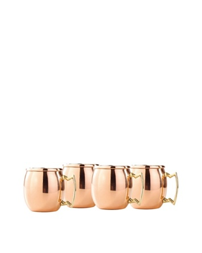 Old Dutch International Set of (4) 2-Oz. Solid Copper Moscow Mule Shot Mugs