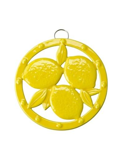 Old Dutch International Two-Tone Round Lemon Trivet, Yellow