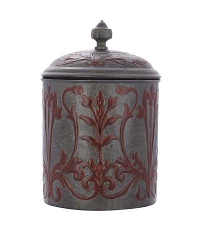 Old Dutch International Art Nouveau 4-Qt. Cookie Jar, Verdigris/Coppertone