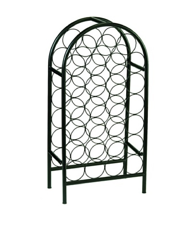 Old Dutch International 27-Bottle Matte Black Arched Wine Rack