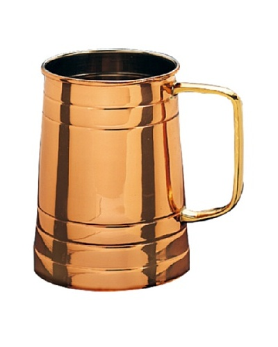 Old Dutch International Solid Copper 1-Pint Tankard with Brass Handle