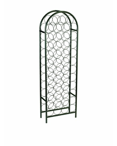 Old Dutch International 47-Bottle Matte Black Arched Wine Rack