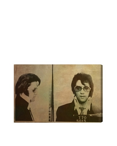Oliver Gal Elvis Mugshot Giclée Canvas Print