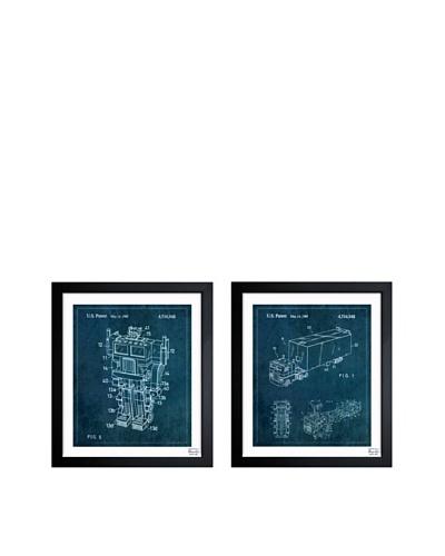 Oliver Gal Set of 2 Reconfigurable Toys Framed Art Prints