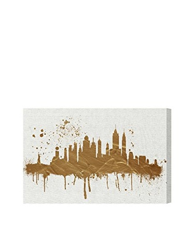 Oliver Gal Gold NY Skyline Canvas Art