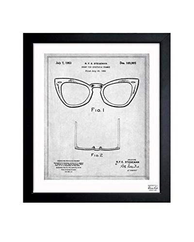 Oliver Gal Ray-Ban Wayfarer Spectacle Frame 1953 Framed Art