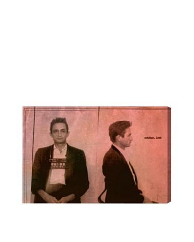 Oliver Gal Johnny Cash Mugshot Giclée Canvas Print