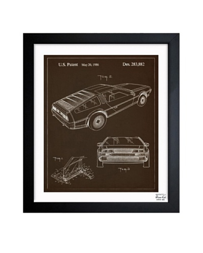 Oliver Gal Delorean 1986 Framed Print