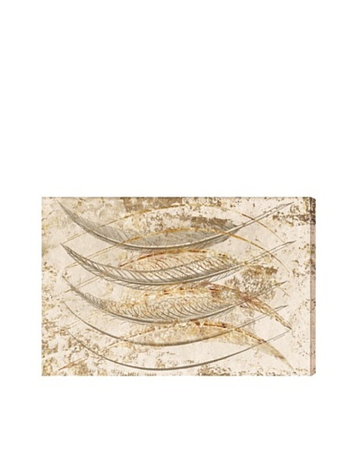Oliver Gal Gold Feathers Giclée Canvas Print