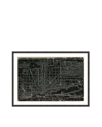 Oliver Gal Chicago Railroad Framed Giclée Print