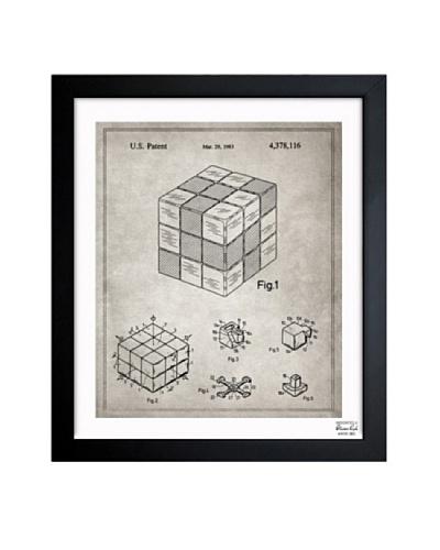 Oliver Gal 'Spatial Logical Toy, 1983- Gray' Framed Print