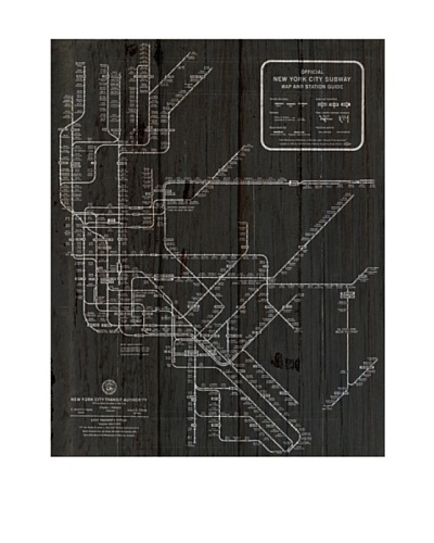 Oliver Gal 'New York Subway Map 1958' American Reclaimed Wood Wall ArtAs You See
