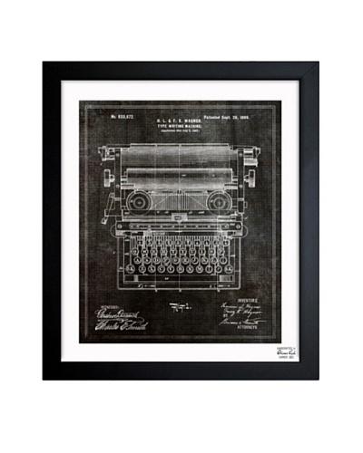 Oliver Gal 'Type Writing Machine 1899' Framed Print