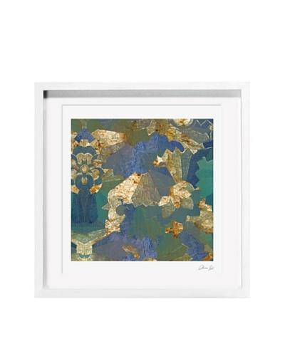 Oliver Gal Turquoise Deco Framed Giclée