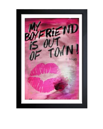 Oliver Gal My Boyfriend is Out of Rown Rose Framed Art