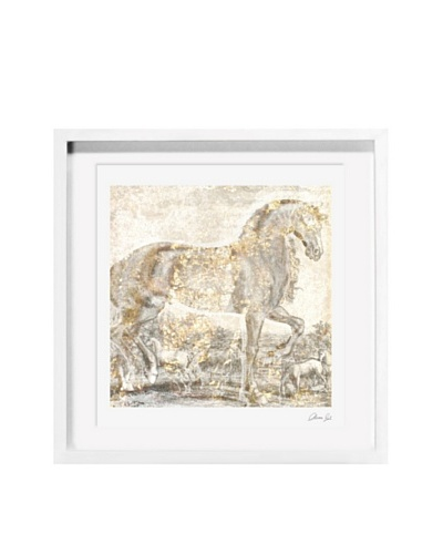 Oliver Gal Brilliant Equestrian Framed Giclée