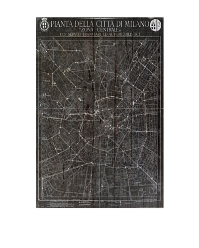 Oliver Gal 'Mappa della Citta Di Milano' American Reclaimed Wood Wall Art