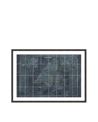 Oliver Gal Map of Madrid 1861 Framed Art Print