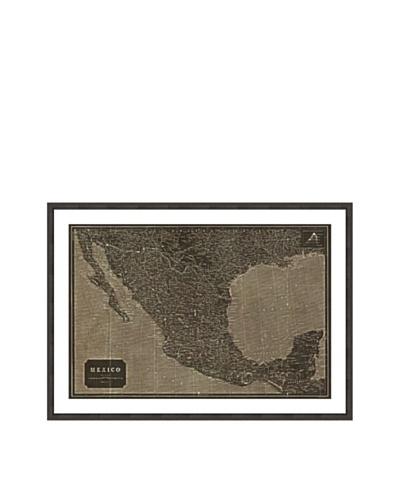Oliver Gal Mexico 1919 Map Framed Art Print