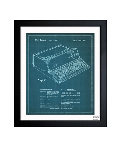 Oliver Gal 'First Apple Personal Computer 1983' Framed Print