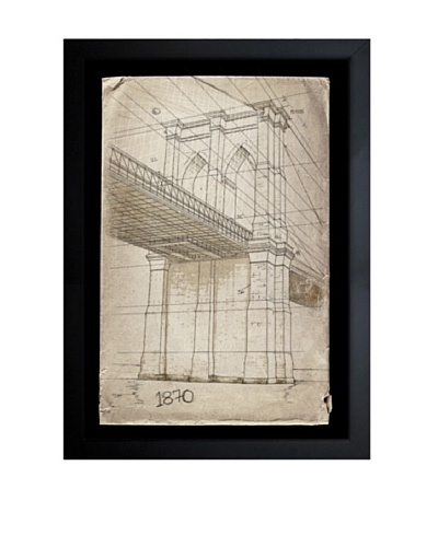 Oliver Gal Brooklyn Bridge, 1870 Framed Giclée