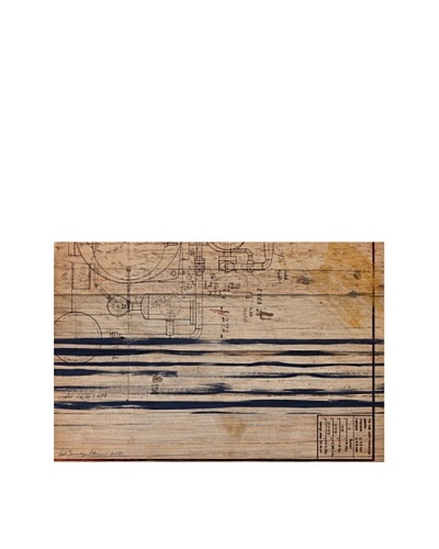 Oliver Gal 'Ethan' American Reclaimed Wood Wall Art