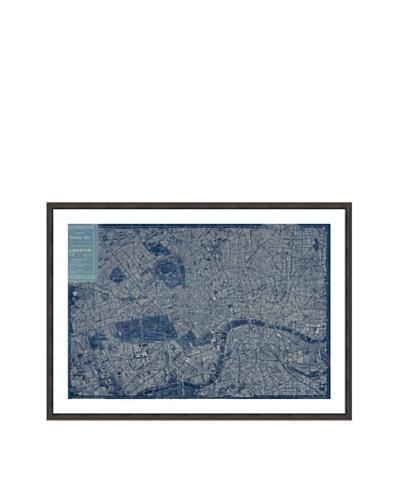 Oliver Gal London Map 1899 Framed Art Print