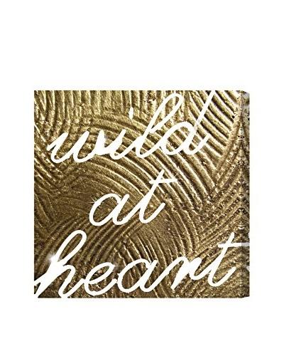 Oliver Gal Wild Gold Heart Canvas Art