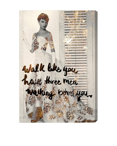 "Oliver Gal ""Walk Like You Have"" Giclée On Canvas"