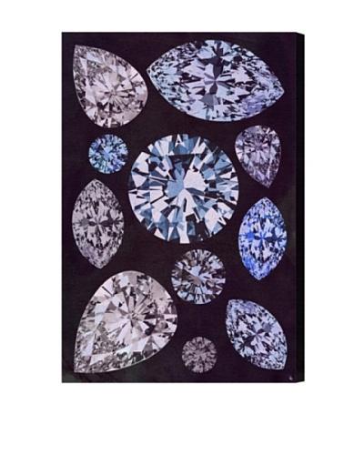 Oliver Gal Violet Stones Canvas Art