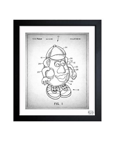 Oliver Gal 'Mr. Potato 1980 Gray' Framed Print