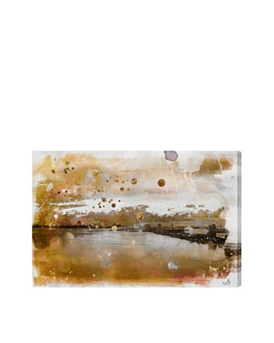 Oliver Gal Miami Gold Morning Canvas Art