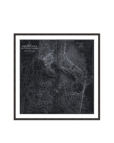 Oliver Gal Design for Australia's Capital Map 1911 Framed Art Print