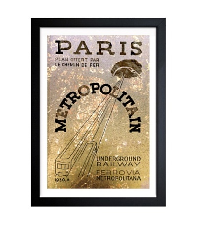 Oliver Gal Paris 1936 Railway Framed Art