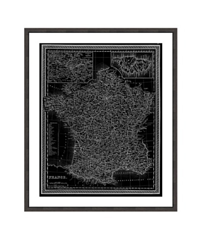 Oliver Gal France Map 1849 Framed Art Print